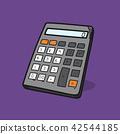 Calculator illustration on color background 42544185