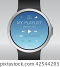 Smart electronic intelligence watch.Vector 42544203