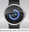 Smart electronic intelligence watch.Vector 42544204
