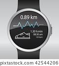 Smart electronic intelligence watch.Vector 42544206