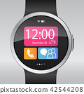 Smart electronic intelligence watch.Vector 42544208