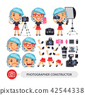 Photographer Woman Character Constructor 42544338