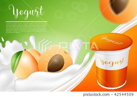 Apricot and yogurt 42544509