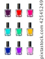 Nail polish bottles on white background vector illustration 42545249