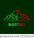 Baseball with bat and radius cloud logo icon 42546129