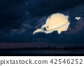 Saturn back cloud sunset sky,Saturn near Earth 42546252