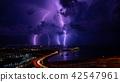 閃電落在海面上 42547961