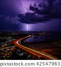 閃電落在海面上 42547963