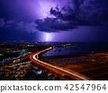 閃電落在海面上 42547964