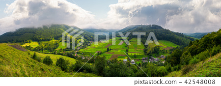 panorama of a rural area in mountains 42548008