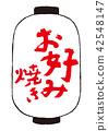 okonomiyaki, calligraphy writing, paper lantern 42548147