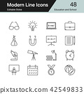 Education and School icons. Modern line design. 42549833