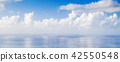 Cloudy sky over sea, natural background 42550548