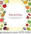 fruits, fruit, vector 42551090