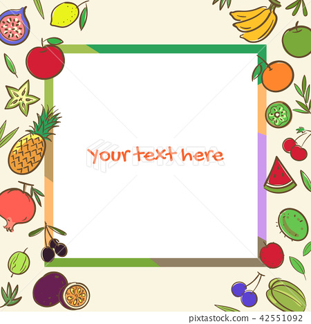 Fruits banner background template  42551092