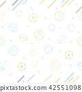 Sport theme seamless pattern background 42551098