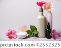 Natural Cosmetics set and flowers  42552325