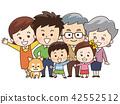 好朋友三代家庭和宠物狗 42552512