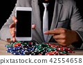 Gambling Concepts. Business people are gambling in the casino. B 42554658