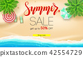 Sale. Summer offer, get up to fifty percent 42554729