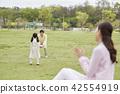 春天,家庭,公園,日常,散步,野餐,郊遊,休閒,團契,幸福 42554919