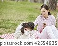 봄,가족,공원,일상,라이프스타일,산책,소풍,나들이,모녀 42554935