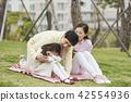 春天,家庭,公園,日常,散步,野餐,郊遊,休閒,團契,幸福 42554936