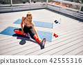 woman stretch sport 42555316