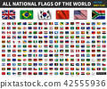 All national flags of the world .  42555936