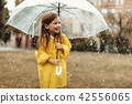 rain, umbrella, girl 42556065
