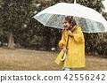 child, umbrella, rain 42556242