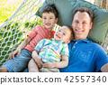 family, child, hammock 42557340