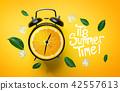 It's Summer Time Typography. Alarm Clock of Orange 42557613