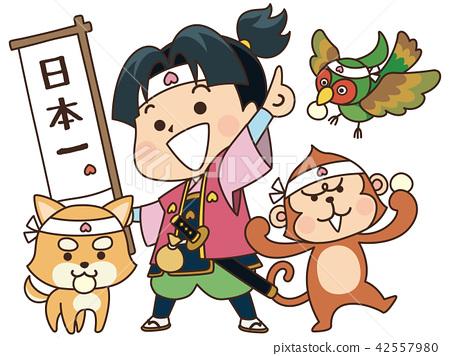 桃太郎 童话 微笑 42557980