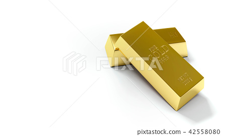 Gold Bar on the white background 42558080