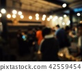 Blurred of people at cafe 42559454