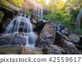 Waterfall beautiful in rain forest at Soo Da Cave 42559617