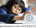 女人早上生活方式 42560076