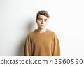 男性外國人肖像面部表情 42560550