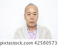 男性高級肖像面部表情 42560573