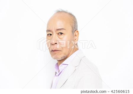男性高級肖像面部表情 42560615