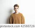 男性外國人肖像面部表情 42560726