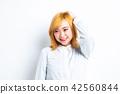 女性肖像面部表情 42560844