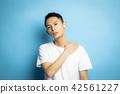 男性肖像面部表情 42561227