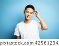 男性肖像面部表情 42561234