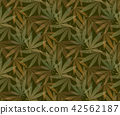 Marijuana leaves seamless vector pattern. 42562187