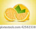 lemon on yellow background 42562338
