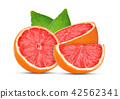 grapefruits isolated on white background 42562341