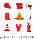 fire equipment vector collection design 42562992