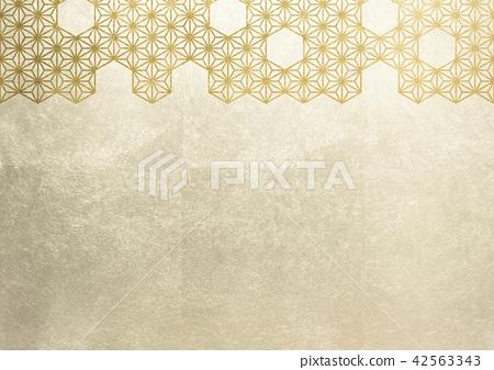 大麻葉箔金圖像(背景材料) 42563343